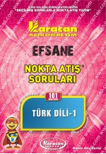 101 - Karacan Yayınları Nokta Atış Soruları - TÜRK DİLİ - I