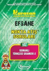 437 - Karacan Yayınları Nokta Atış Soruları -..