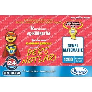 1200 - Karacan Yayınları Kavram Şemalı Ders Notları - GENEL MATEMATİK