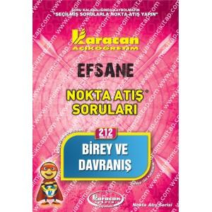 212 - Karacan Yayınları Nokta Atış Soruları - BİREY VE DAVRANIŞ