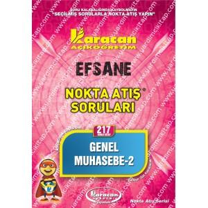 217 - Karacan Yayınları Nokta Atış Soruları - GENEL MUHASEBE 2