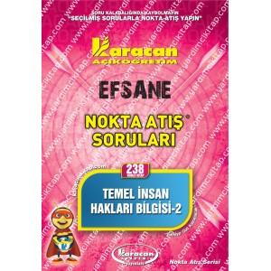 238 - Karacan Yayınları Nokta Atış Soruları - TEMEL İNSAN HAKLARI BİLGİSİ 2