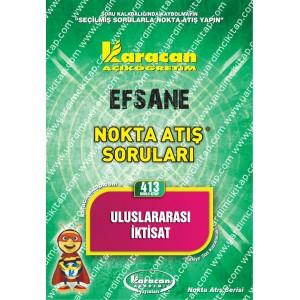 413 - Karacan Yayınları Nokta Atış Soruları - ULUSLARARASI İKTİSAT