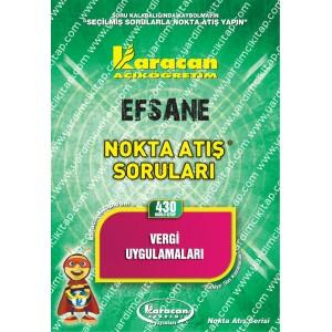 430 - Karacan Yayınları Nokta Atış Soruları - VERGİ UYGULAMALARI