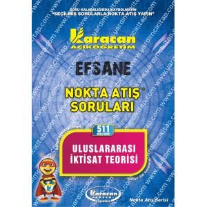 511 - Karacan Yayınları Nokta Atış Soruları - ULUSLARARASI İKTİSAT TEORİSİ