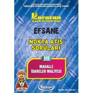 609 - Karacan Yayınları Nokta Atış Soruları - MAHALLİ İDARELER MALİYESİ