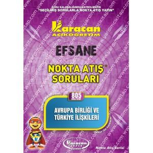 805 - Karacan Yayınları Nokta Atış Soruları - AVRUPA BİRLİĞİ VE TÜRKİYE İLİŞKİLERİ