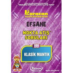 809 - Karacan Yayınları Nokta Atış Soruları - KLASİK MANTIK