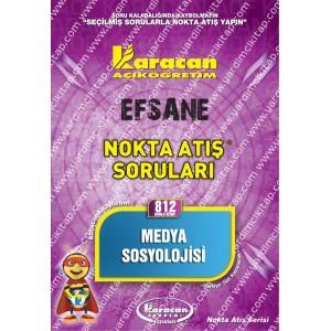 812 - Karacan Yayınları Nokta Atış Soruları - MEDYA SOSYOLOJİSİ