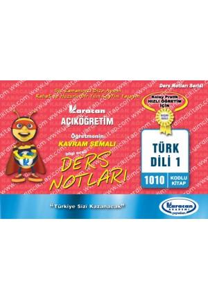 1010 - Karacan Yayınları Kavram Şemalı Ders Notları - TÜRK DİLİ 1