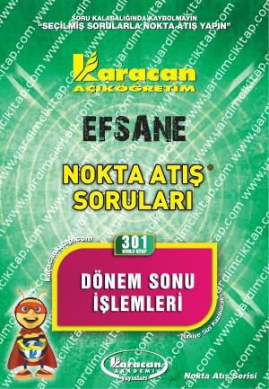 301 - Karacan Yayınları Nokta Atış Soruları - DÖNEM SONU İŞLEMLERİ